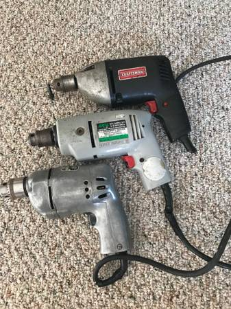 Photo Electric Drill Craftsman Skil Black and Decker 38quot - $5 (Brookfield)