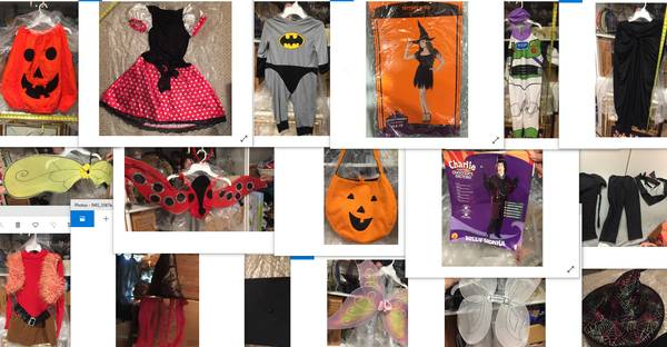 Photo Halloween costumes trick or treat items - $5 (brookfield)