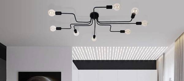 Photo Industrial Ceiling Chandelier, Vintage Wrought Iron Large Semi Flush - $195 (brewers hill)