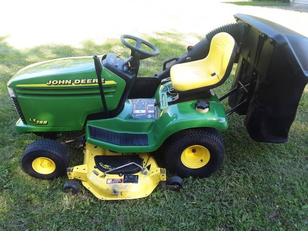 Photo John Deere LX288 Garden Tractor - 48quot Mower - Power Flow Leaf Bagger - $1,750 (Jefferson)