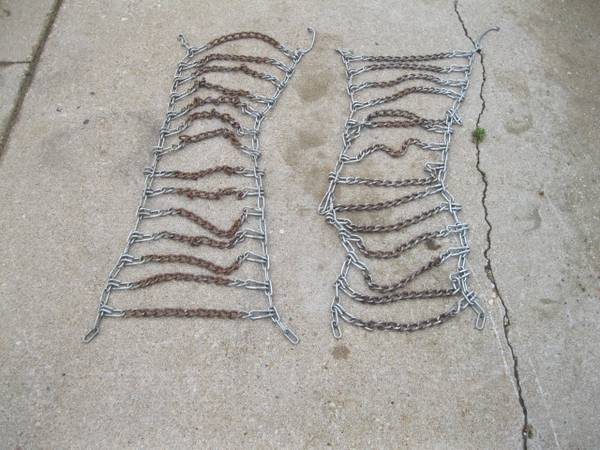 Photo Lawn Tractor Tire Chains 10x10.00x22 Simplicity Broodmoor  Others - $50 (Waukesha)