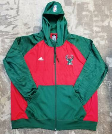 Photo MILWAUKEE BUCKS ADIDAS PRE-GAME FULL-ZIP HOODED WARM UP JACKET 2XL NEW - $85 (Milwaukee)