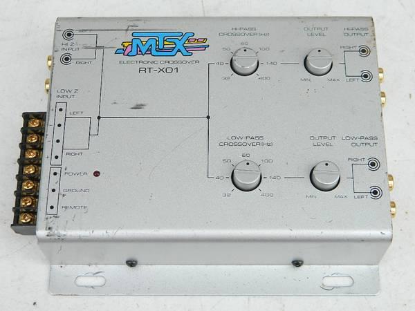 Photo MTX 2-Way Electronic Crossover RT-XO1 Vintage Car Audio - $35 (Hales Corners)