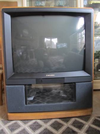 Photo Mitsubishi Oak TV Console - $45 (Hales CornersMuskego area)