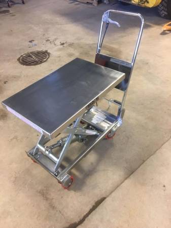 Photo New Mobile Stainless Steel lift table - $375 (Saukville)