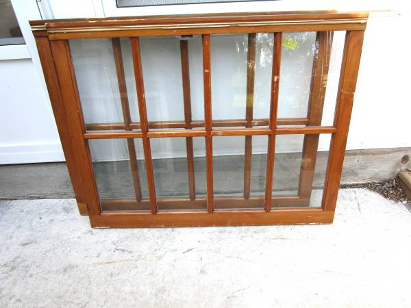 Photo Old Wood Windows House Sashes Glass Used-Sale 8 Pane - $20 (New Berlin)