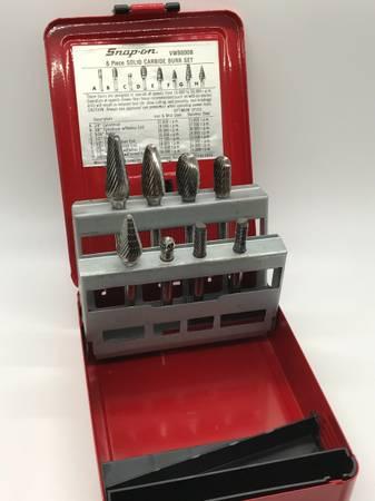 Photo Snap On Tools 8pc Solid Carbide Burr Set Die Air Grinder - $160 (Brookfield)