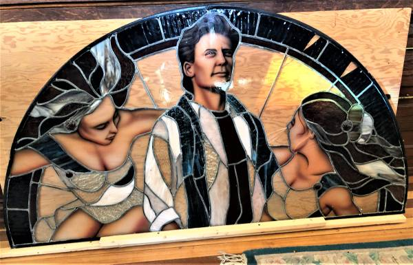 Photo Stained Glass Window, Charlie Sheen, Angels - $475 (Hartford)