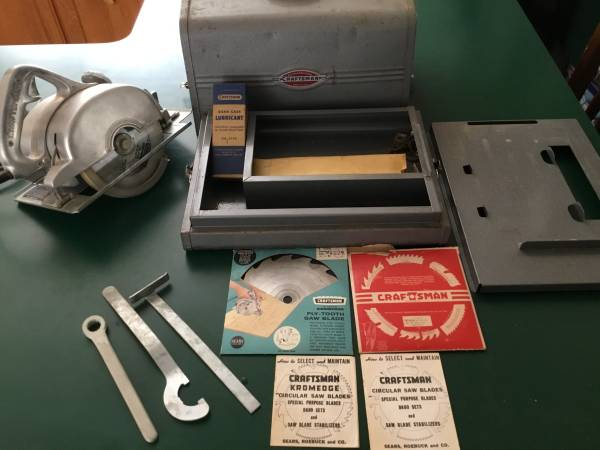 Photo Vintage Craftsman 6-12quot Circular Saw 207.25530 Box and Extras - $40 (WAUKESHA)