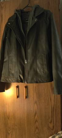 Photo Women39s XL, Leather Riding Jacket, Hooded - $50 (Greenfield)