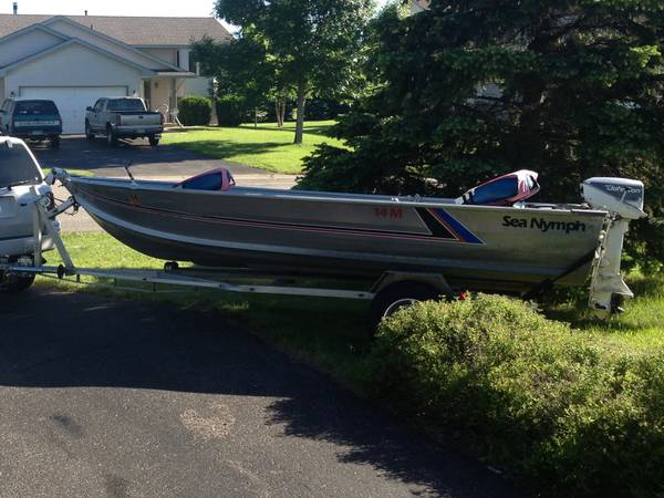 1989 Sea Nymph 14 Ft  1988 Johnson Outboard Motor 14 Hp W