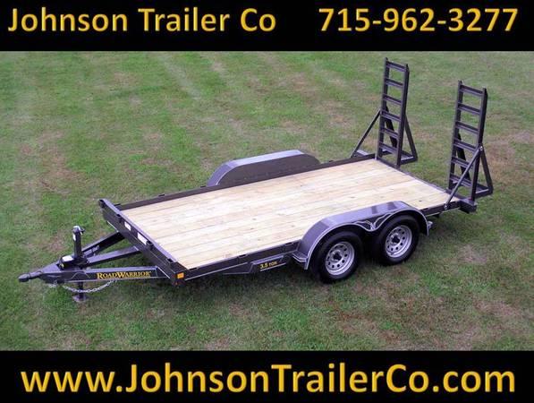 Photo 77quot x 1239 Road Warrior 3.5-Ton Skidsteer Equipment Trailer - $2,927 (Colfax, WI)