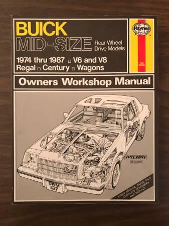 Photo Buick Mid-Size 1974-1987 Regal, Century, Wagons Haynes repair manual - $10 (Minneapolis)