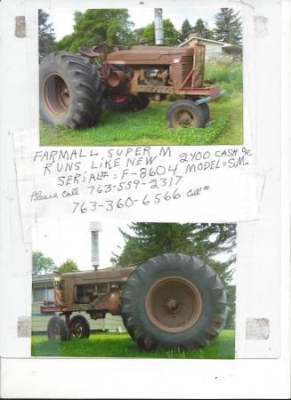 Photo Farmall Super M - $2,400 (HamelPlymouth)