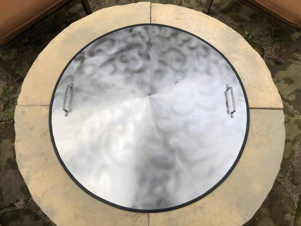 Photo Fire Pit Covers - Conical Shape - Steel or Stainless Steel - $299 (rogers)