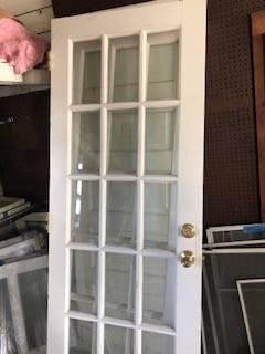 Photo French doors and door with mirror - $200 (ECCO)