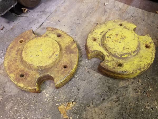 Photo Garden Tractor Cast Iron Wheel Weights John Deere - $160 (Hanover)