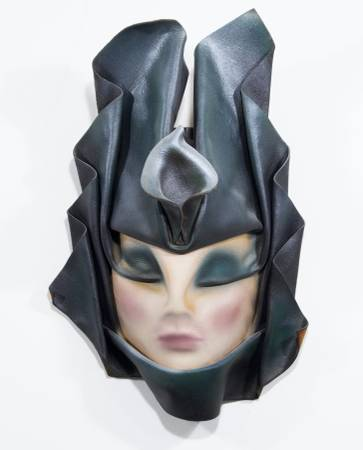 Photo Leather sculpture art deco mask - $10 (SW Mpls)
