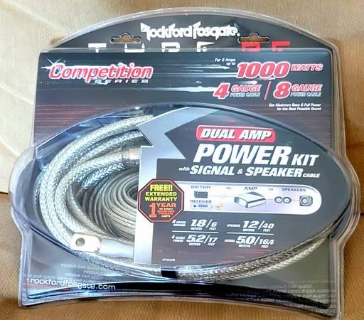 Photo NEW Rockford Fosgate Dual Amp Power Kit - $100 (Crystal)