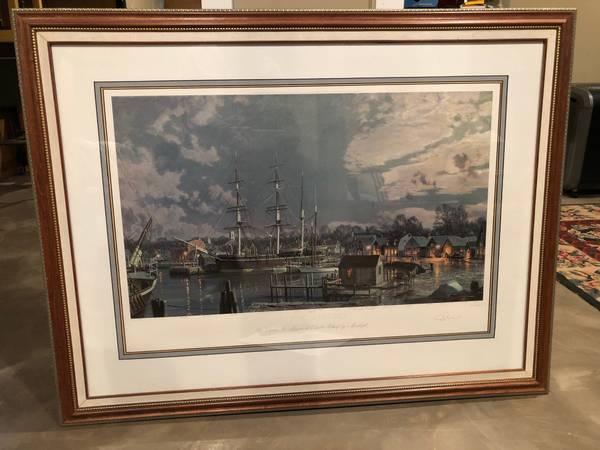Photo Print, John Stobart, Limited Edition (Mystic Seaport) - $100 (St. Paul)