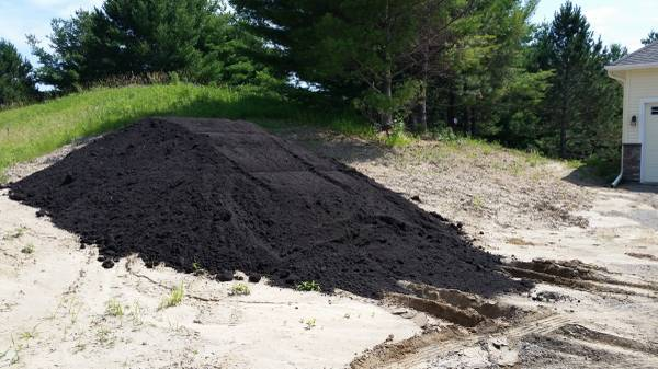 Photo Quality high nutrient pulverized  screened black dirt - $14 (Forest lake)