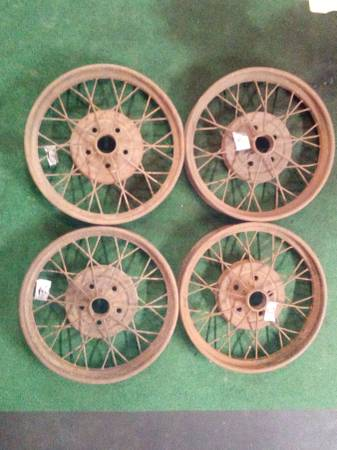 Photo Set of 4 Model A Ford 21quot Wheels- used - $300 (Mpls)