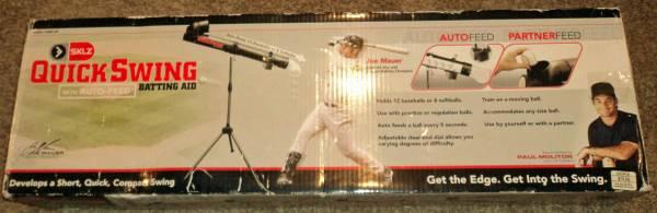 Photo Sklz Quick Swing baseball hitting trainer batting aid - $50 (Savage)
