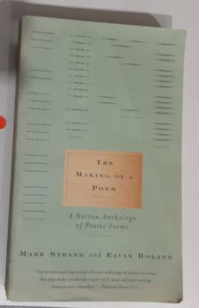 Photo The Making of Poem, Norton Anthology of Poetic forms - $5 (Mounds View)