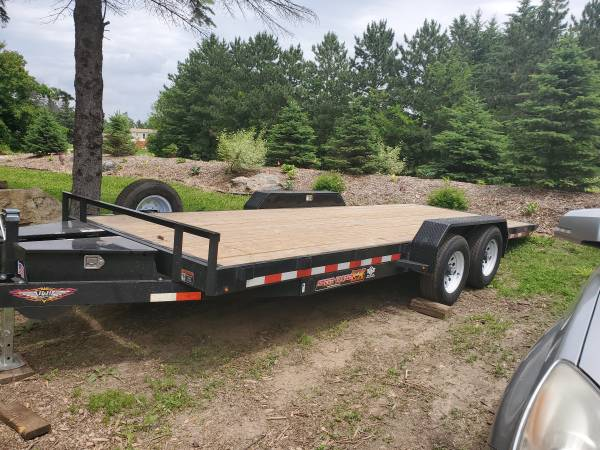 Photo Tilt Bed Car Trailer with Winch option for rental $ 40 - $40 (Carver)