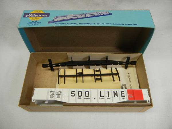 Photo Vintage Athearn Blue Box Soo Line Gondola Kit, HO Scale, PN 1646, New - $15 (Little Canada)