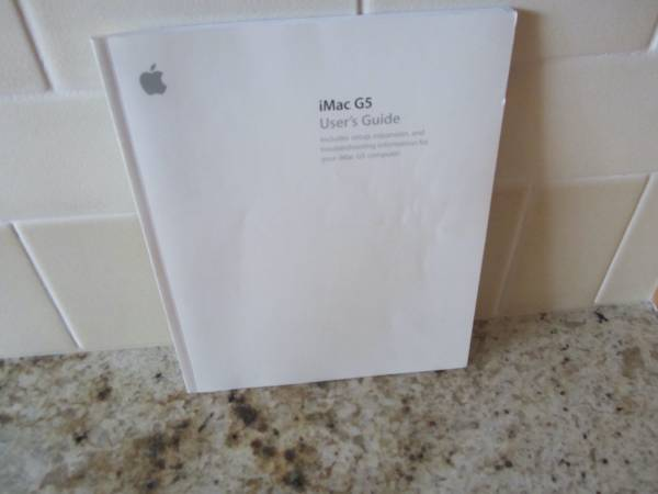 Photo iMac G5 Users Guide  Welcome to Panther - $5 (Chaska)