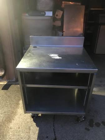 Photo stainless steel table work table cabinet nsf - $175 (burnsville)