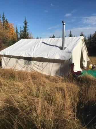 Photo 16 x 33 ft Canvas Wall Tent, 6 ft walls - $4,333 (Missoula)