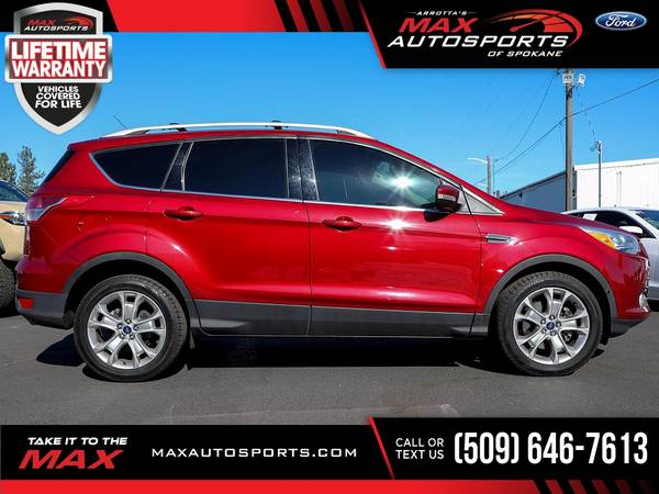 Photo 2015 Ford Escape Titanium AWD $235 mo - LIFETIME WARRANTY - $17,530 (Max Autosports of Spokane)