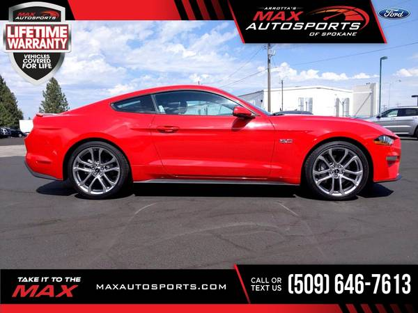 Photo 2019 Ford Mustang GT Premium Coupe 9,782 $594 mo LIFETIME WARRA - $42,980 (Max Autosports of Spokane)