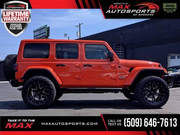 Photo 2020 Jeep Wrangler Unlimited MAXED OUT SAHARA $741 mo - LIF - $55,999 (Max Autosports of Spokane)