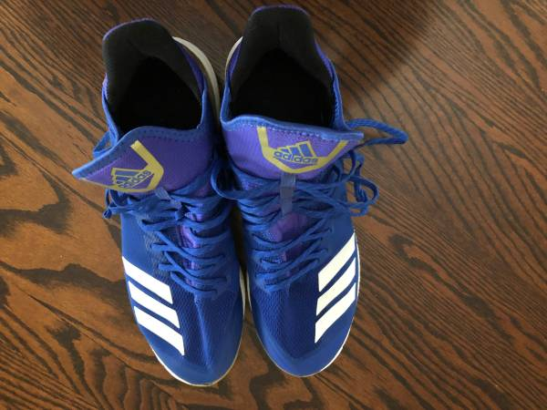 Photo Adidas Boost Icon 3 blue metal baseball cleats size 11.5 - $30 (Missoula)