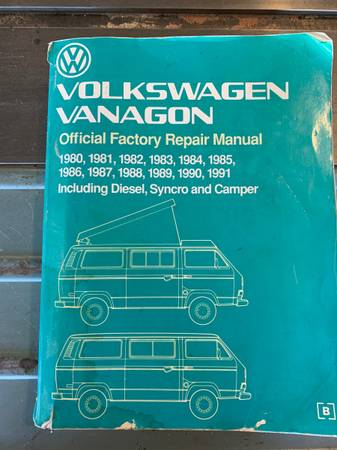 Photo Bentley manual for VW Vanagon 1980-1991 - $35 (Missoula)