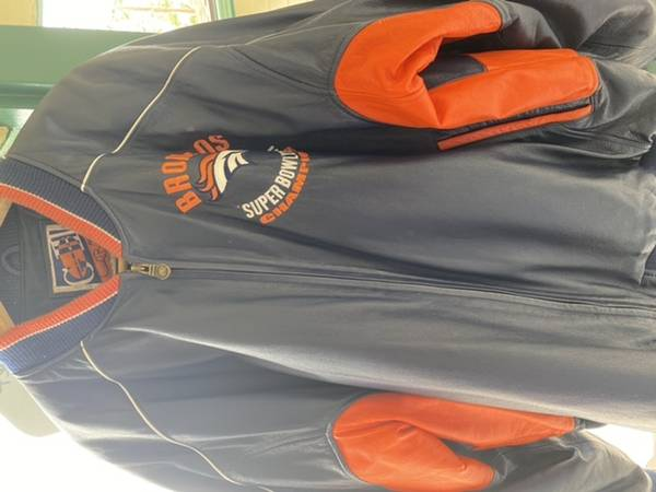 Photo Denver Broncos Leather coat - $50 (Missoula)
