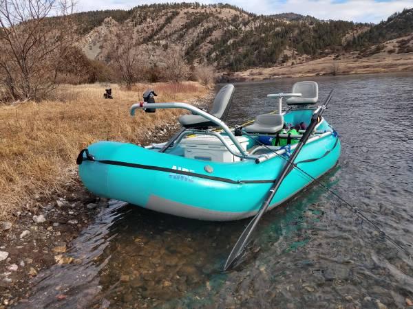 Photo NEW 13 ft Aire Super Puma Raft w NRS Fishing Frame - $5100 (Missoula)