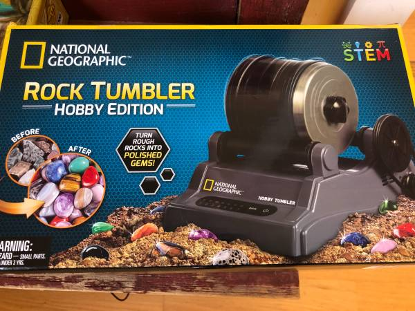 Photo National Geographic Rock Tumbler Kit - Never been used - $35 (Missoula)