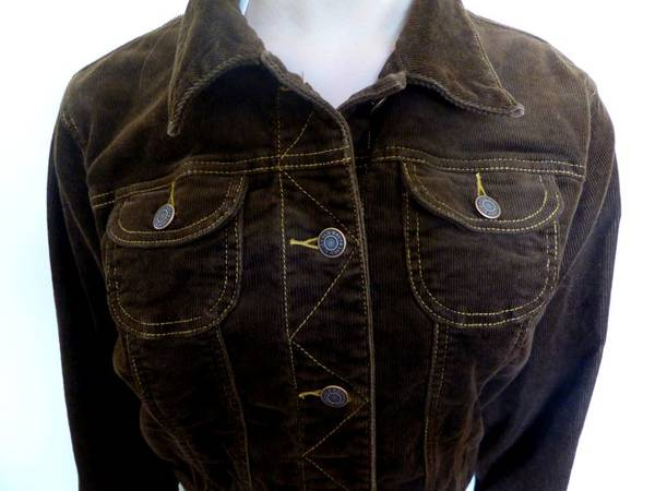 Photo Old Navy Blue Jeans Cotton Corduroy Jacket (Size L) Brown - $10 (Frenchtown, MT)