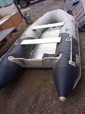 Photo Rubber boat for sale motor and trailer optional - $300 (Missoula)