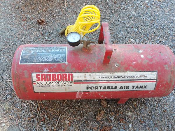 Photo Sanborn Portable Air Tank - 20 Gal Tank -- Holds Air well - $25 (MSOLolo)
