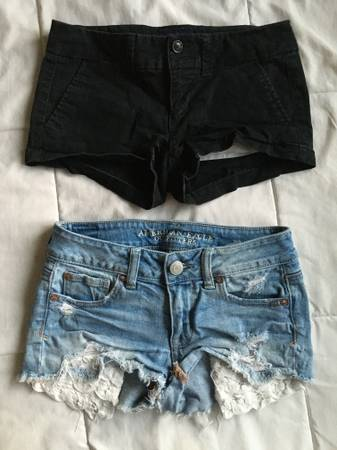 Photo Two Pairs of Junior39s American Eagle Shorts, Size 00 - $10 (Missoula)