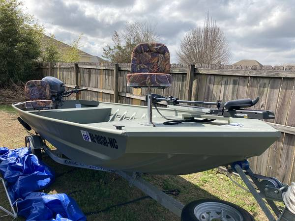 Photo 2019 1539 Jon Boat with tiller outboard - $8,500 (Mobile)