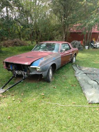 Photo 67 mustang coupe project car - $4,500 (Theodore)