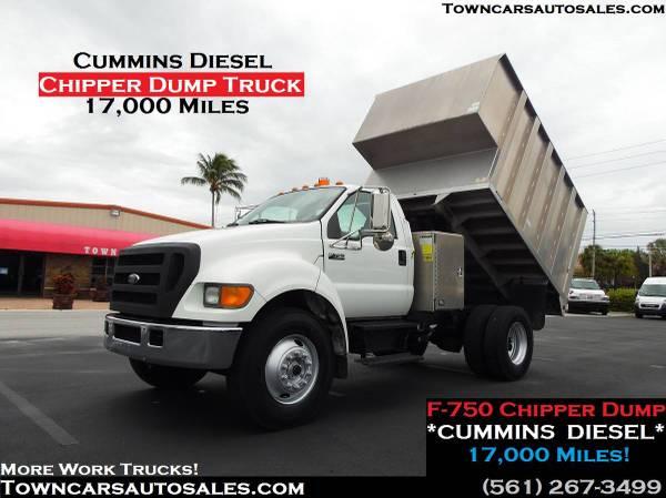 Photo Ford F750 17K MILES Chipper DUMP BODY TRUCK Dump CHIPPER DUMP TRUCK - $45,000 (Diesel Dump Truck)