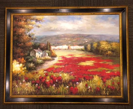 Photo Oil based painting with frame - $300 (Mobile, AL)