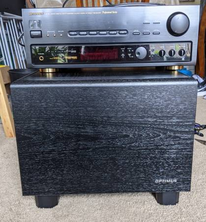 Photo Optimus Receiver and 12 in. Passive Subwoofer - $80